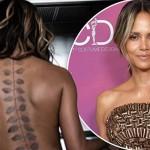 Холли Берри показала огромную татуировку на обнаженной спине