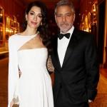 Амаль и Джордж Клуни посетили британскую королеву