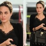 Анджелина Джоли на деловой встрече в Беверли-Хиллз выглядела очень уставшей