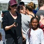 Шарлиз Терон нашли с детьми на рынке в Лос-Анджелесе