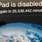 Ребенок заблокировал iPad родителей на полвека