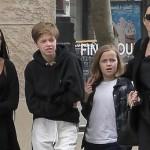 Анджелина Джоли надела траурную одежду