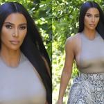 Ким Кардашьян в гуляла в Лос-Анджелесе почти в голом виде