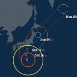 На Японию надвигается мощный тайфун Хагибис — 19-й за год