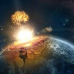 Обломки метеорита, который упал на Землю, могут оказаться на Луне