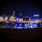 Порошенко открыл новогоднюю елку на катке Roshen