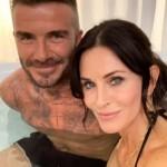 Дэвид Бекхэм вместо жены залез в ванну с актрисой Кортни Кокс