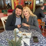 Ирина Федишин провела с мужем выходной.
